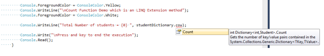 Without including System.Linq Namespace.